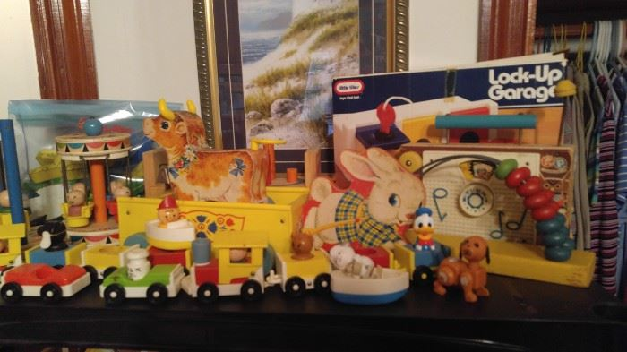 lots of amazing vintage fisher price toys