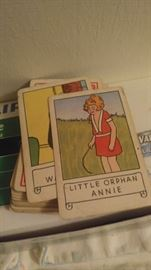 Little orphane Annie deck of cards