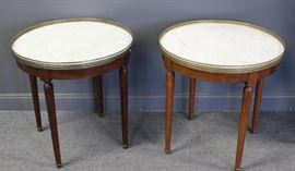 Antique and Custom Quality Pair of Marbletop