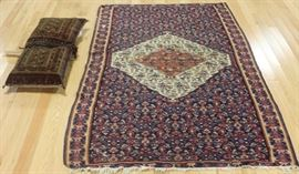Antique and Finely Hand Woven Carpet Together