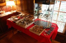 Miniature baskets and doll house miniatures, sterling jewelry and more