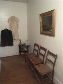 Antique Chairs,Painting, side table,Antique Nurses Cape,Uniforms & Hats. Antique & Vintage Medical & Red Cross Books.