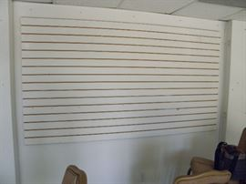 Slat wall / Retail display wall section  4x8  ******$40******  More available   Call Now (760) 788-0775    (760) 445-8571
