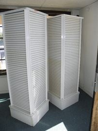 (2)   spinning retail merchandise display towers ************$60 each********** Call Now for immediate  showing...  (760) 975-5483  (760) 445-8571