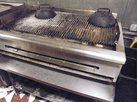 Front view ....48 inch gas charbroiler....from working kitchen   *********$350*********  Call now for immediate appointment to come and purchase.  (760) 975-5483          (760)  445-8571