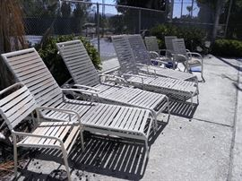 15  Commercial  poolside sun loungers  need good cleaning*******$20 each********  Call Now for immediate appointment  (760) 788-0775     (760) 445-8571