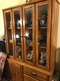 Lovely, lighted China hutch.