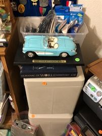 Vintage Chevy and two document safes.