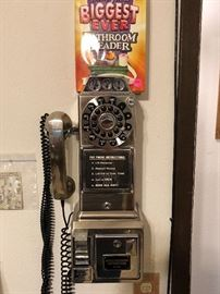 Vintage Pay phone that works.
