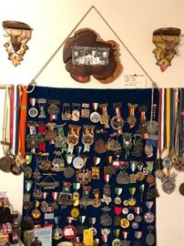 Military medals.