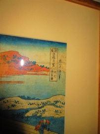 Detail of Japanese Block Print, 19th c.