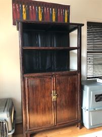another view of the Pagoda Red Cabinet