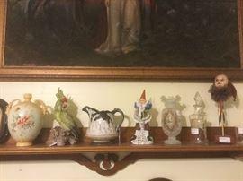 German figures,  Victorian shelf