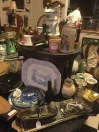 Antique transferware, steins, advertising, pottery, crocks