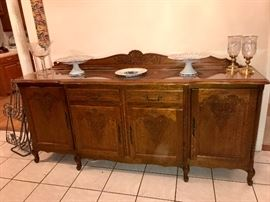 French Country 7 ft Oak sideboard