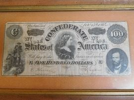 Confederate One Hundred Dollars - Feb. 17th 1864