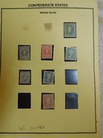 Confederate States Stamps - Various Issues