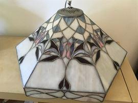 Slag glass lamp shade