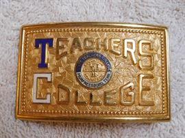 Teachers College Belt Buckle
