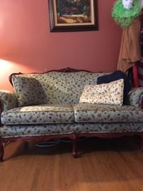 Reproduction Victorian style Loveseat