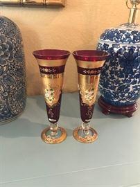 Bohemian Glass Vases