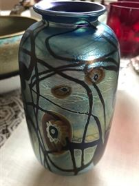 Beautiful Art Glass Vase Marked