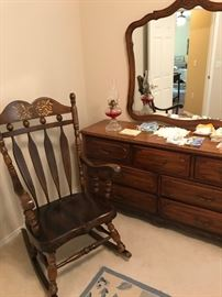 Old Hand Painted Rocking Chair