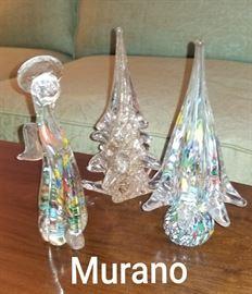 Murano Christmas trees and Angel