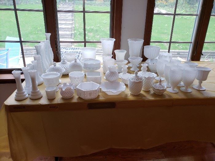 Fenton Milkglass Collection.