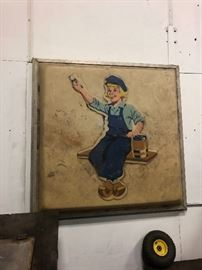 Large Dutch Boy painting adverting sign