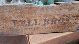 Local Monroe Hutchinson Bell Bros Coca Cola crates.