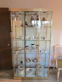 Gold Framed Glass Cabinet