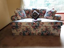 Living Room:  Flower Pattern Couch