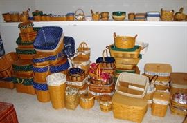 "LARGE COLLECTION OF ""LONGABERGER"" BASKETS"