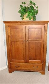 VERY NICE ETHAN ALLEN MEDIA CABINET - GREAT SIZE! DOES NOT TAKE UP ALOT OF SPACE.