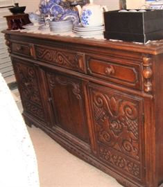 1920's BUFFET - BEAUTIFULLY CARVED! (SEE NEXT PHOTO) WE HAVE THE MATCHING TABLE & CHAIRS