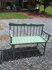 Primitive sitting bench