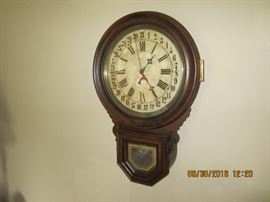 Antique calendar clock. Inspected and cleaned by professional clock smith.