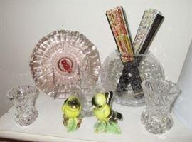 Vintage glassware, salt & pepper shakers