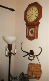 Wall clocks, decor, lamps