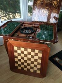 Italian made inlaid multi-game table
