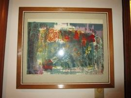 Painting by Selma Hollander, signed & dated 1965