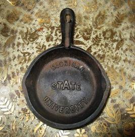 Collectible Michigan State University cast iron ash tray