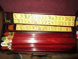 Vintage Bakelite Mahjong set in case!  Great find!