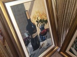 Wine lovers, we have two original oils on canvas, that are must haves!!