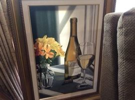 Second oil rendering for the wine connoisseur.