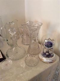 Several nice crystal pieces