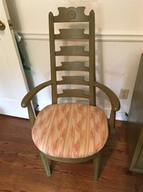 Close-up detailing of Chair in Dining Set
