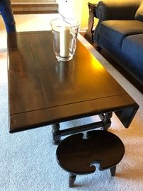 Ethan Allen drop-leaf coffee table