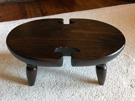 Ethan Allen Antiqued pine small footstool